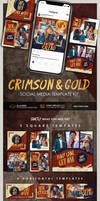 Crimson and Gold Social Media Template Kit
