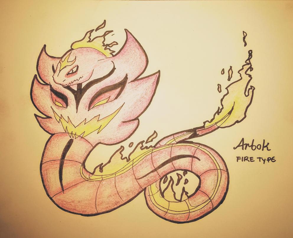 pokemon type switch ups gen 1 fire type arbok by mystichattercat