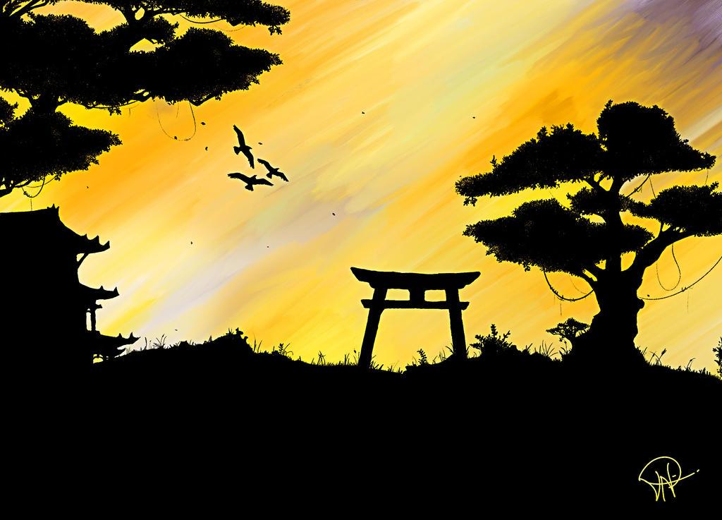 Experimental Japanese Painting by ShadeK ...