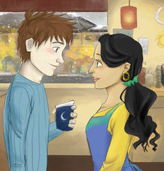 Tooth/Jack Coffeeshop AU- Valentine's Day by maybelletea