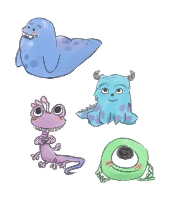 Baby Monsters By Maybelletea On Deviantart