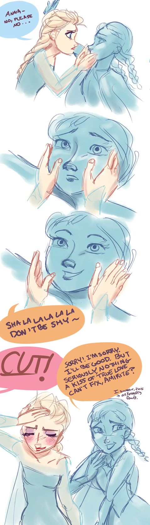 Frozen Actor!AU- Ruining the Moment by maybelletea