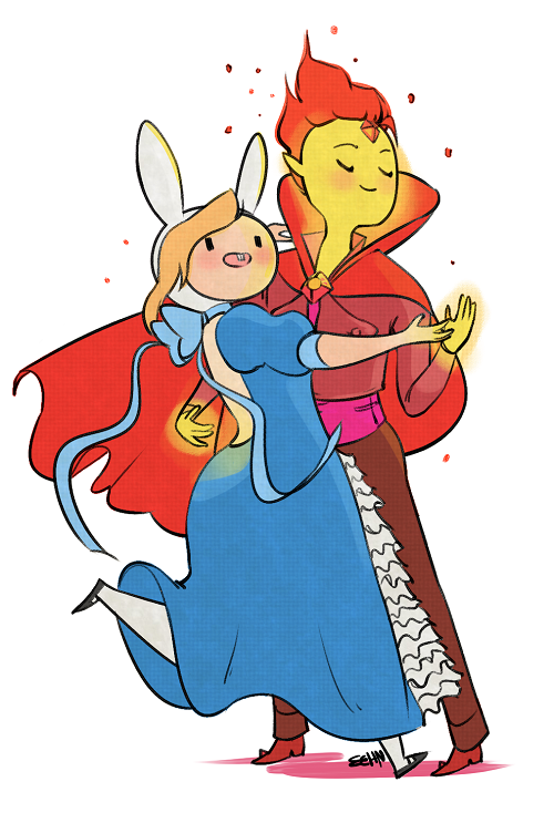 Formal Time with Fionna and Flame Prince! by eehn