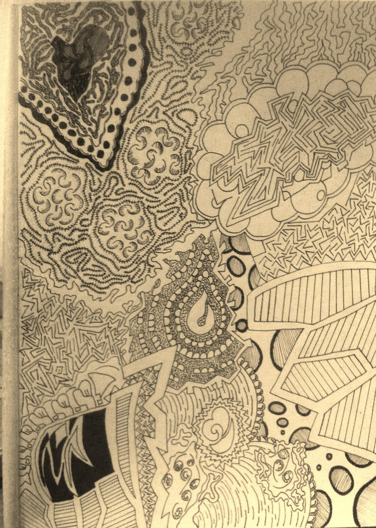 Abstract Line Art Paintings : First attempt at abstract line drawing by butterflylion