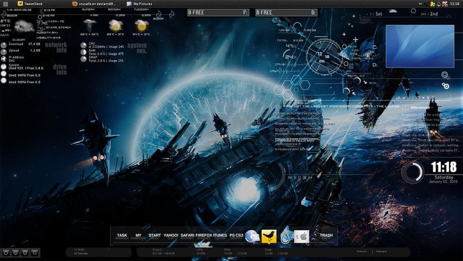 My rainmeter desktop by crucafix on deviantart for Deviantart rainmeter