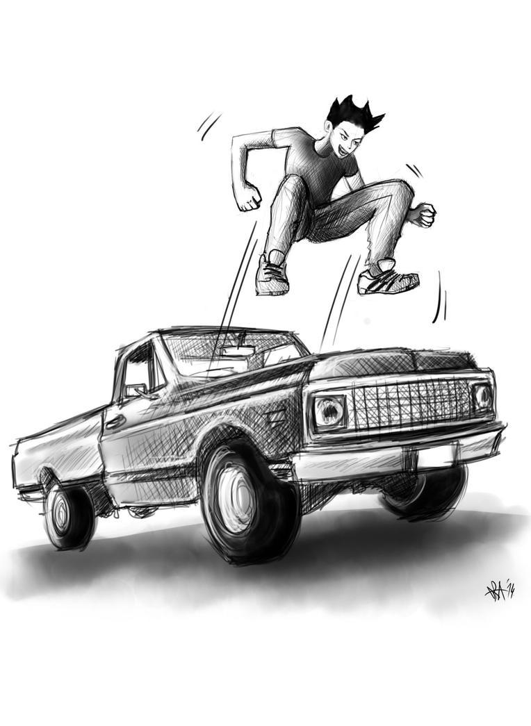 Jumping on da hood by dorashouldprint