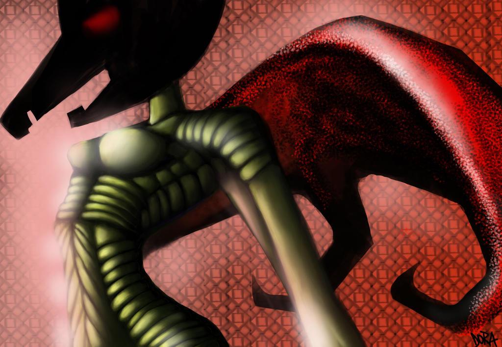 Parrot Beast Woman 2 by dorashouldprint