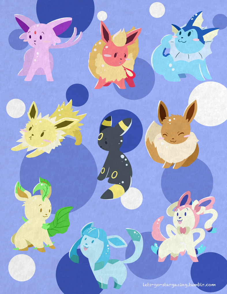 Eeveelution Keyrings 2013 by XxPonyPuffPrincessXx