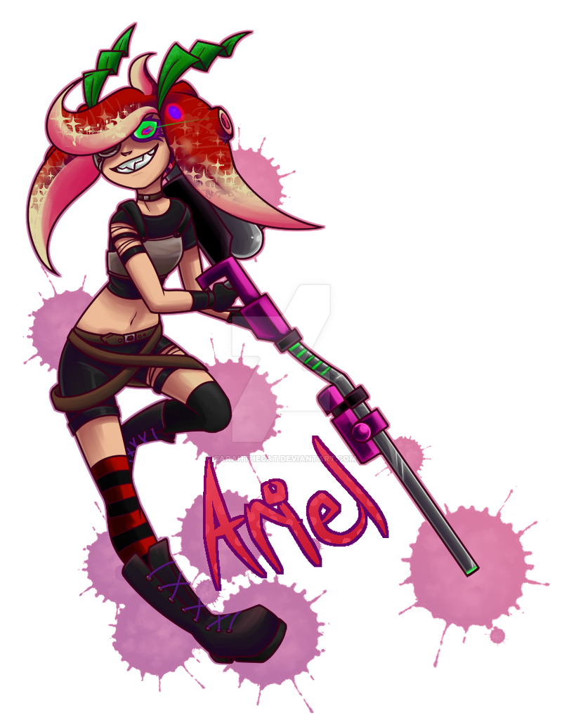 Splatoon Ariel The Octoling By Sarahthecat On Deviantart