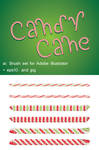 Candy Cane Brushes
