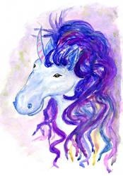 Fantasy unicorn portrait by AnnArtshock