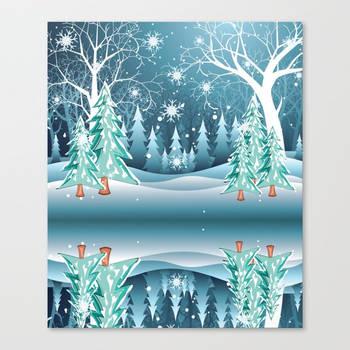 Winter Forest Landscape by AnnArtshock