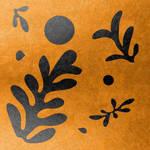 Matisse inspired leaves on gold by AnnArtshock