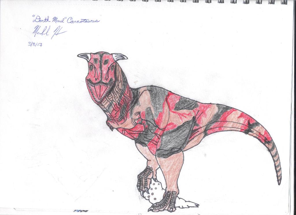 Darth Maul Carnotaurus by Macrocanthrosaurus
