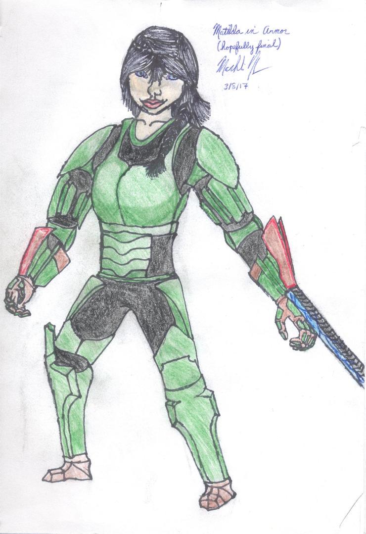 Matilda in armor (Hopefully final) by Macrocanthrosaurus