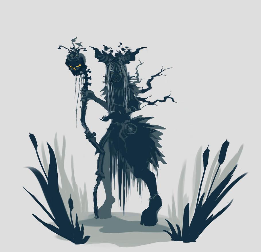 marsh witch everydaysketch by SleepyMavka
