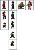 A few custom Mario sprites by Serras-Kai