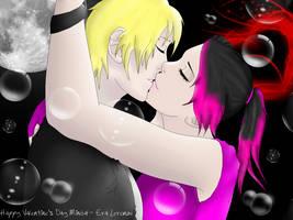 Minda and Luke - Moonlit Kiss by miuXgrimmjow1