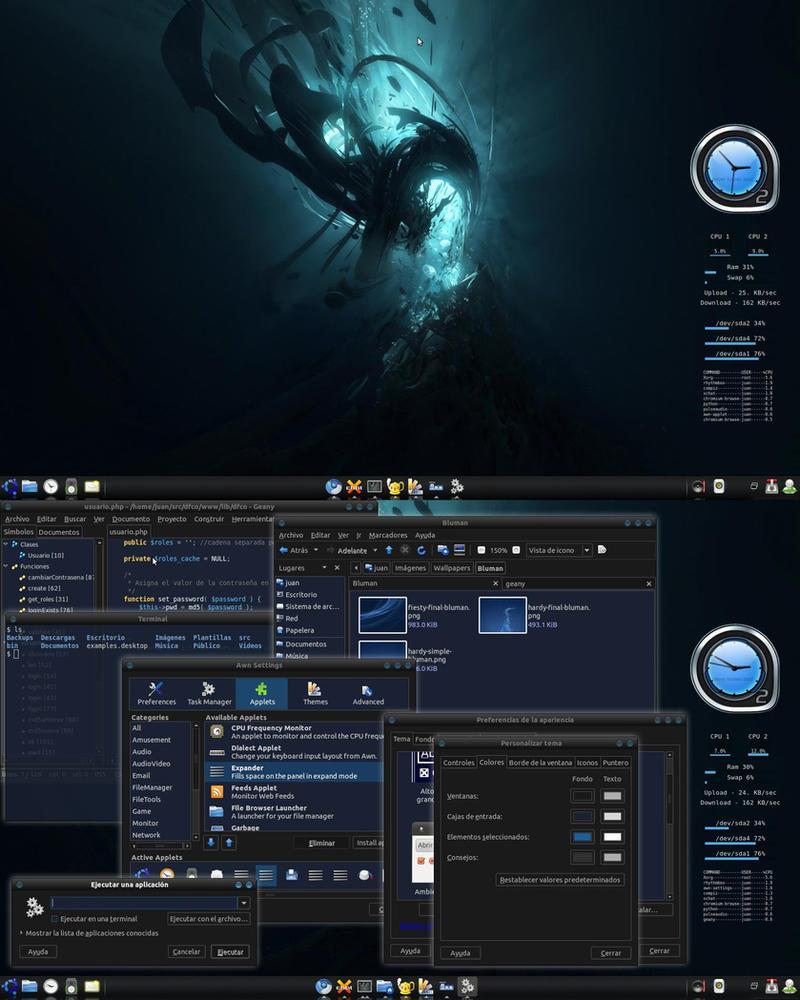 Ubuntu azul oscuro by th3pr0ph3t on deviantart for Fondo azul oscuro