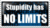 Stupidity Has No Limits Stamp by Northern33