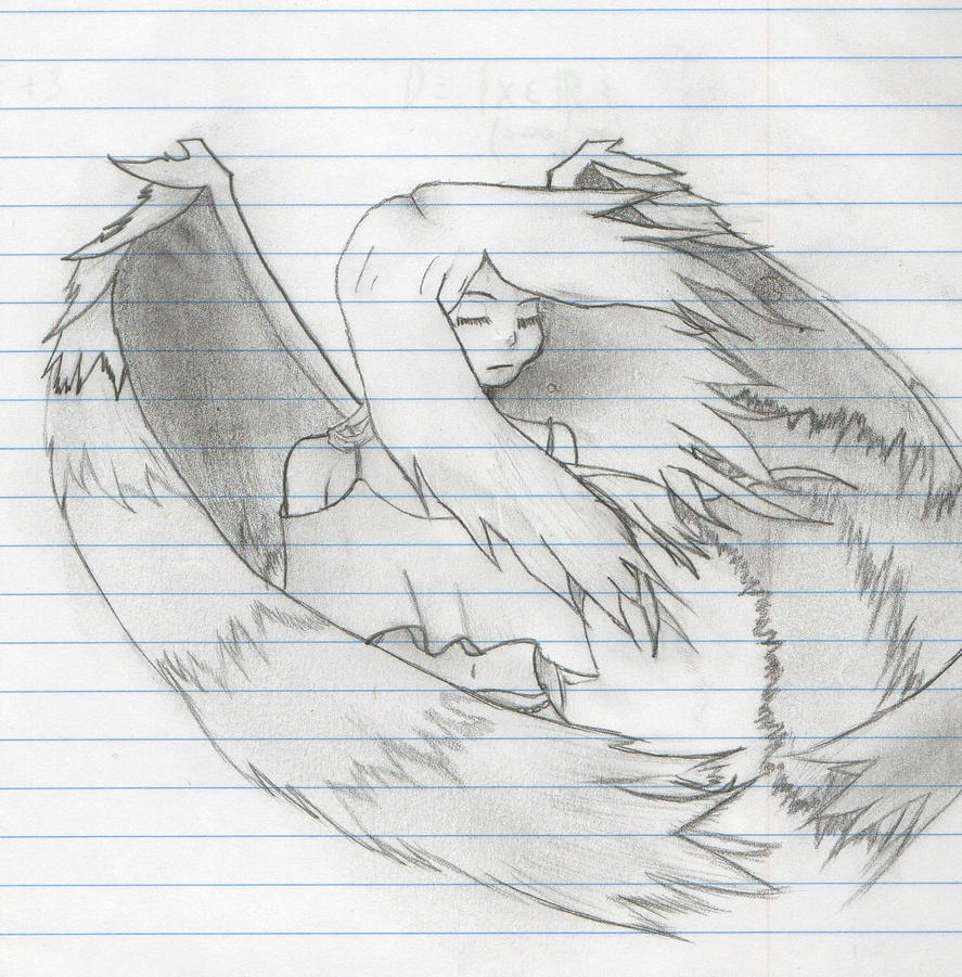depressed angel drawings - photo #13