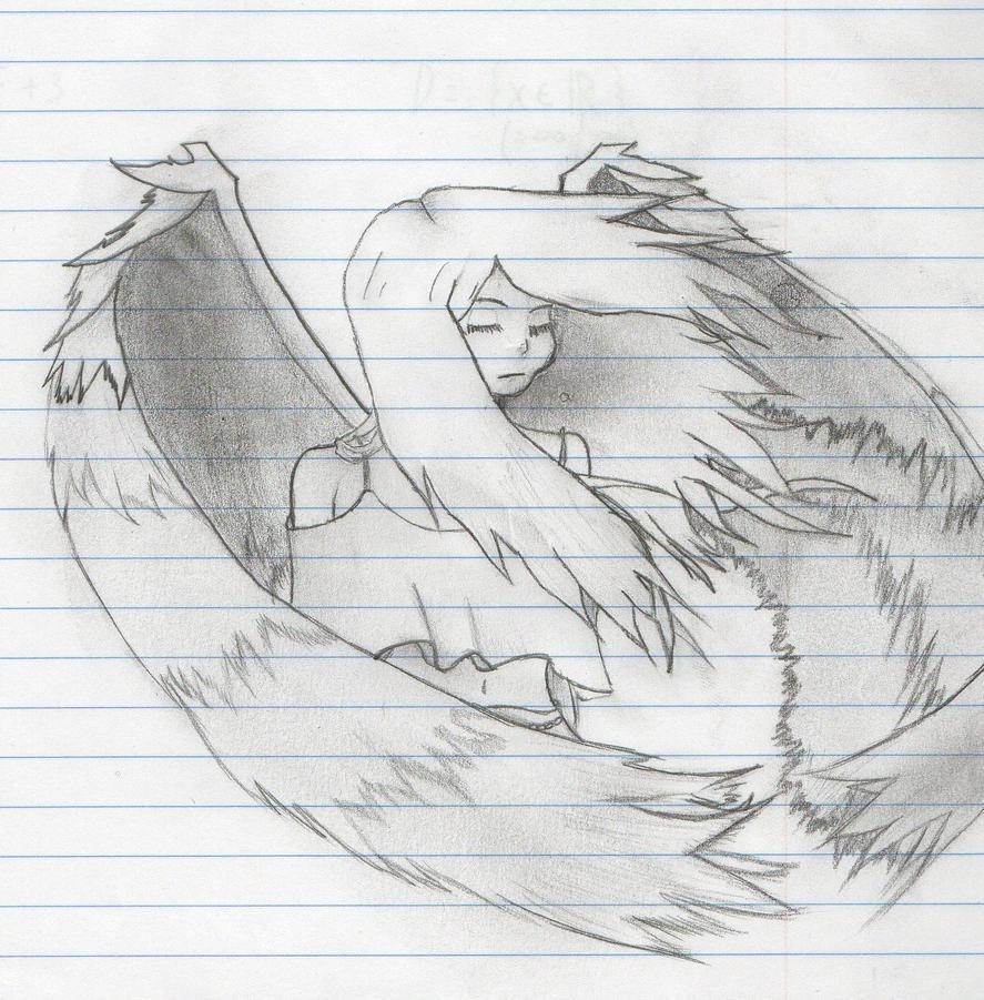 depressed angel drawings - photo #13