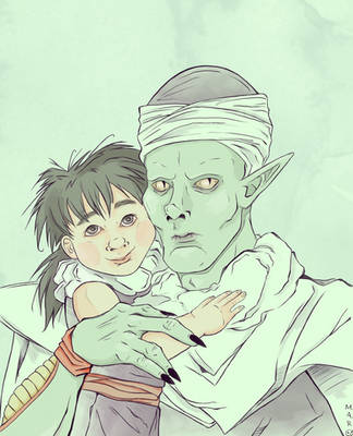 Gohan and Piccolo by SmudgeThistle