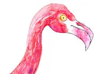 Mom's Flamingo by SmudgeThistle