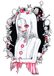 The smile of a clown by xTinyStarx