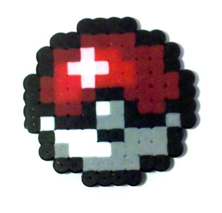 8-bit Pokeball Charm by i-am-a-decoy