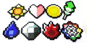 8-bit Pokemon Badge Set by i-am-a-decoy