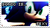 Sonic is Sexy Stamp by Chibi-Mars-Jane