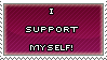 I Support Myself ::Stamp:: by Chibi-Mars-Jane