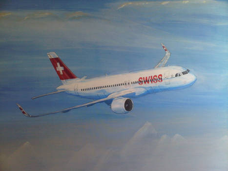Airbus A320 neo, acrylic