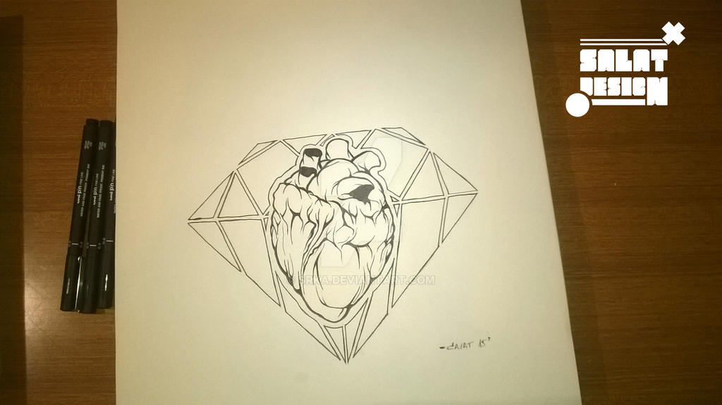 Heart Diamond Tattoo By Srka On Deviantart