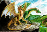 HoMM3 Gold and Green Dragons