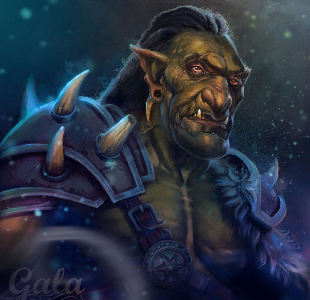Orc, drawing in Krita by Galatejaa