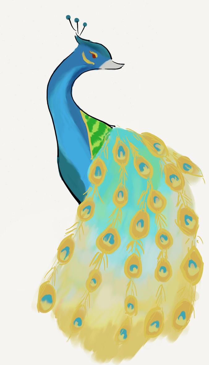 Peacock- Winterlove by Ilunoha