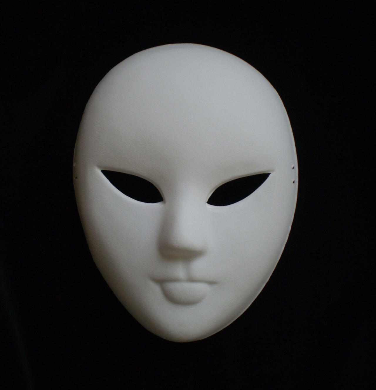 Plain White Mask Stock By MDFS Mask