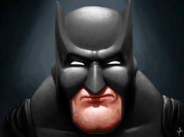 Batman (Beginning digital painting.)