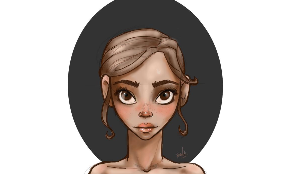 girl portrait by Alehia