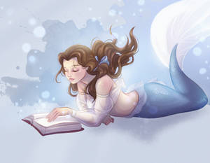 Princess Belle Mermaid version