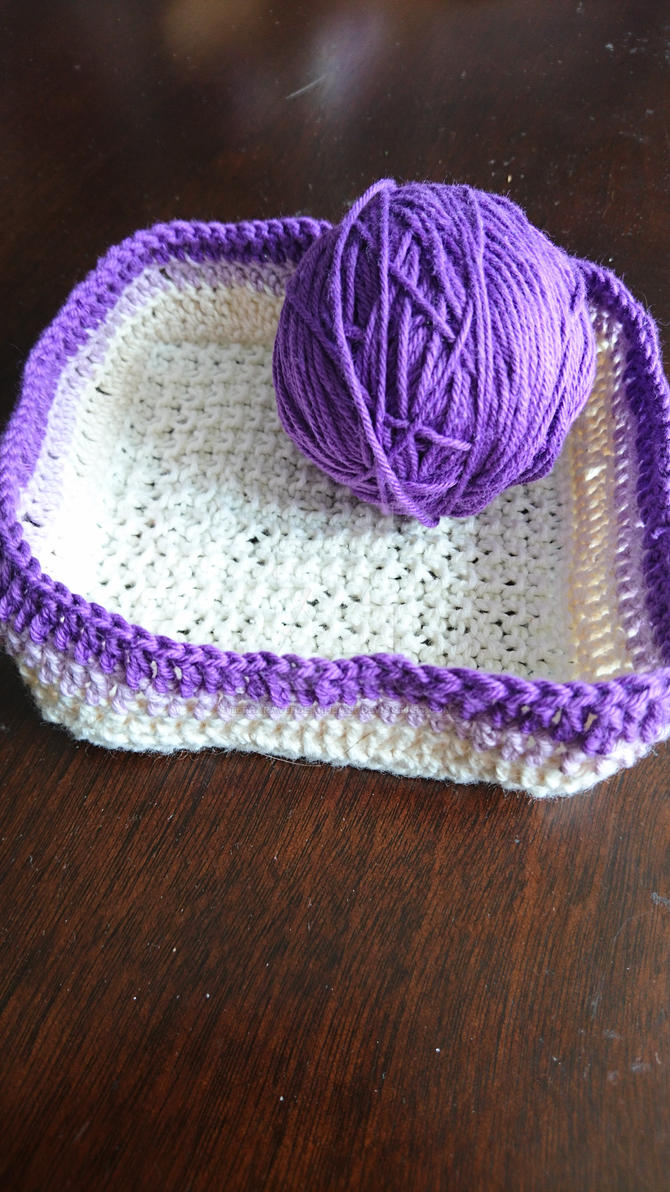 Knitted and Crochet basket