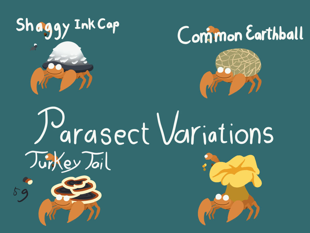 Parasect Variants