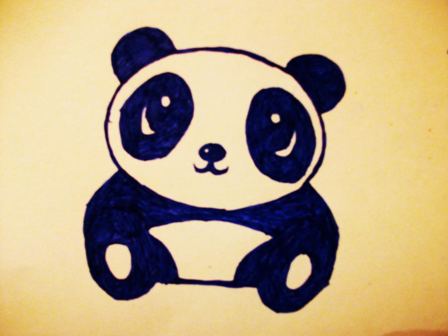 Cute Panda by xPurpleSmokeX on deviantARTDrawing Of A Cute Panda