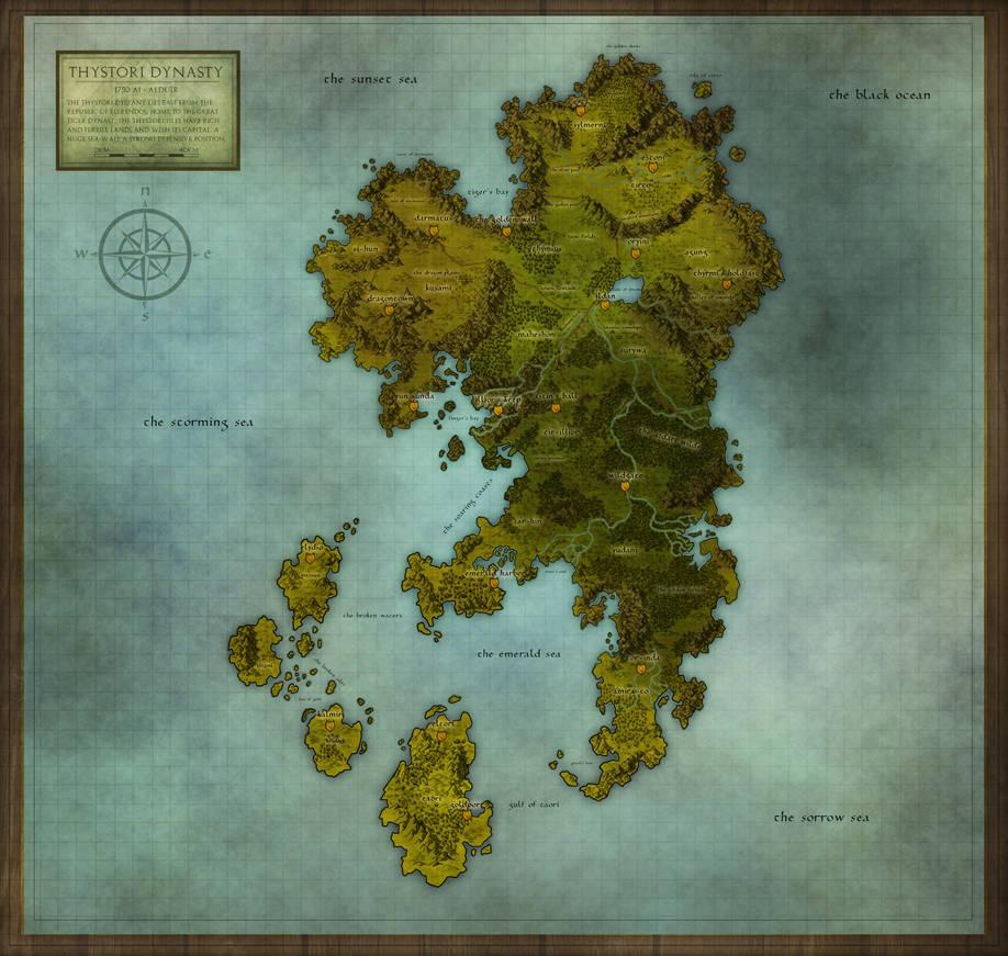 Thystori Dynasty Regional Map by PicanteSemmy