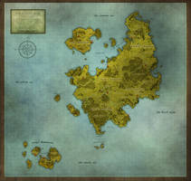 The Sunset Isles Regional Map by PicanteSemmy