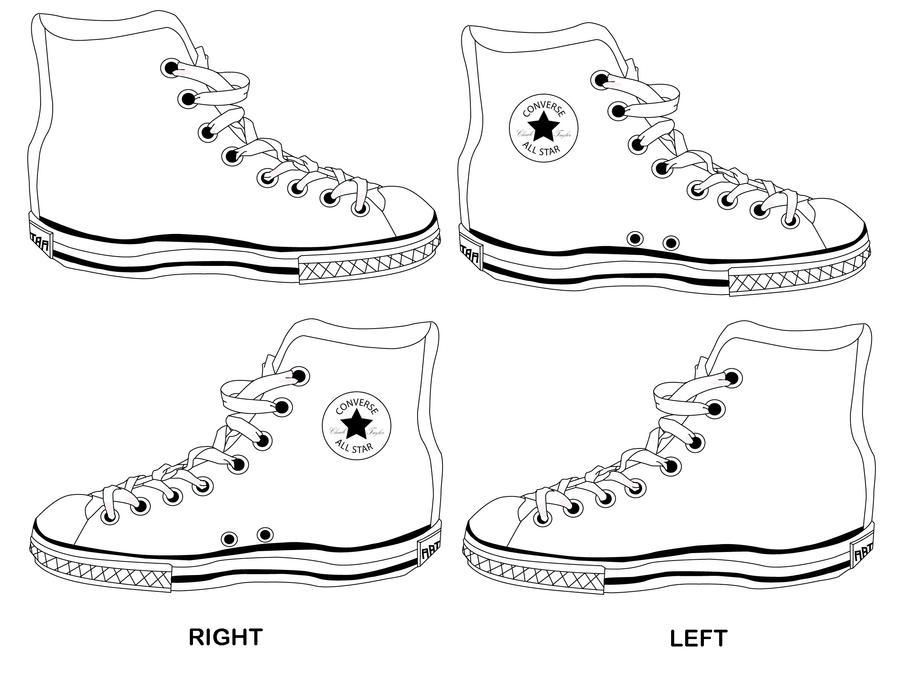 converse shoe template