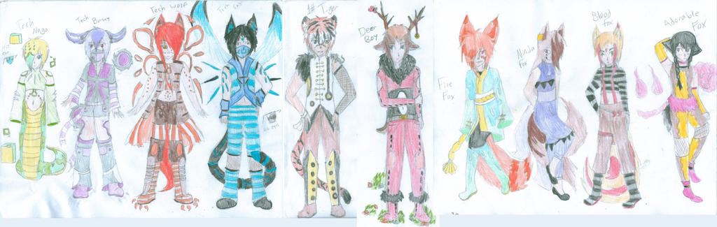 Adoptables! Mixed Adopts! 7 OPEN! by FoxiUzumaki
