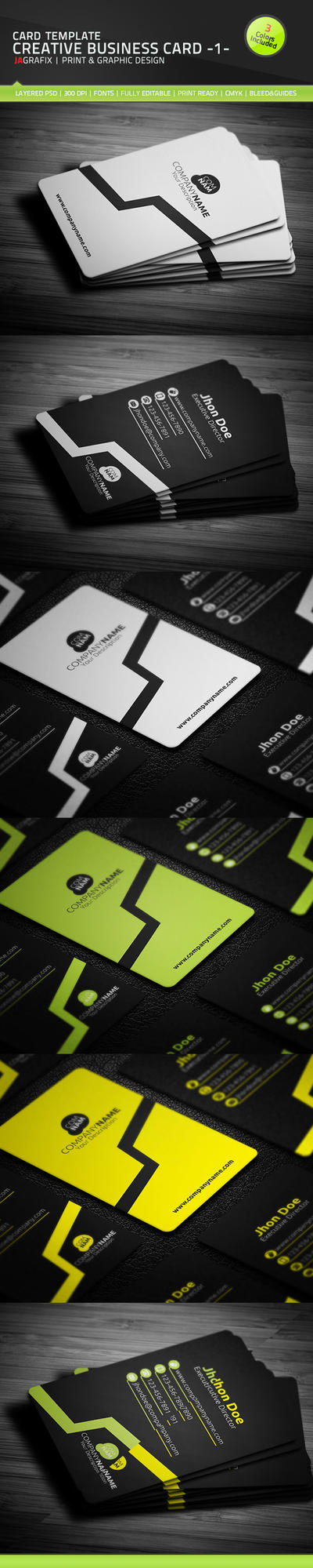 Creative Business Card - 1 - Template [PSD] by Ja-Ghraphics